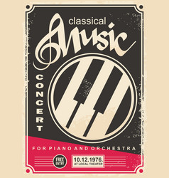 classical music concert for piano and orchestra re vector image vector image