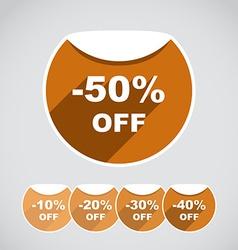 Discount sitckes vector image