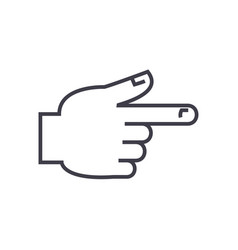 hand pointer line icon sign vector image