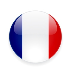Round icon with flag of France vector image vector image