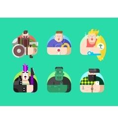 Set avatar design flat vector image vector image
