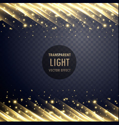 transparent light effect with sparkling effect vector image vector image