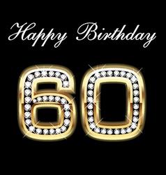 60th happy birthday vector image vector image