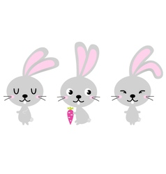 Adorable cute spring Easter Bunnies vector image vector image