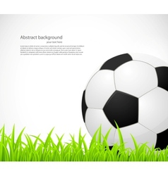 Background with a soccer ball vector image