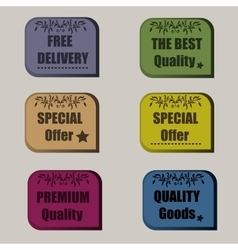 High quality original set of sale signs special vector image