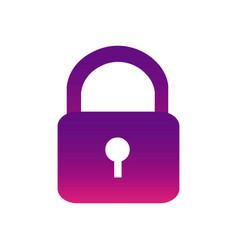 purple lock close icon vector image