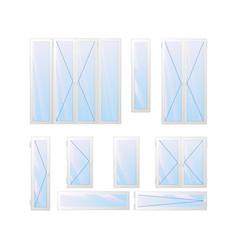 variety of window and door vector image