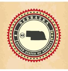 Vintage label-sticker cards of Nebraska vector image vector image
