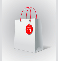 White paper bag vector image vector image