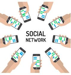 banner social networks vector image