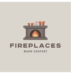 Fireplaces into a flat Silje gifts and flame vector image