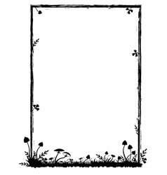 frame with mushrooms vector image