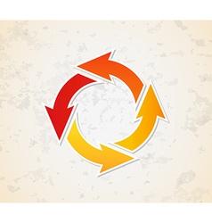 gradient circle arrows vector image vector image