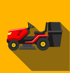 lawn tractor icon isolated on background modern vector image vector image