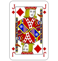 Poker playing card Jack diamond vector image vector image