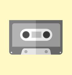 simple audio cassette graphic vector image