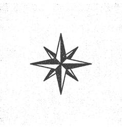 Vintage wind rose symbol or icon in rough vector image vector image