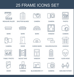 25 frame icons vector