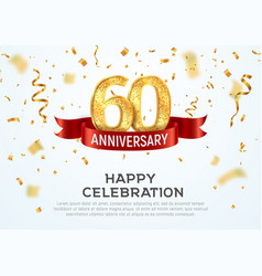 60 years anniversary banner template sixty vector image