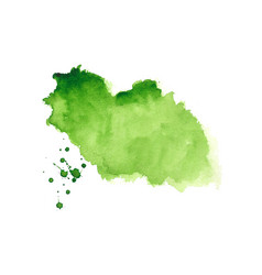 Abstract green watercolor splatter stain texture vector