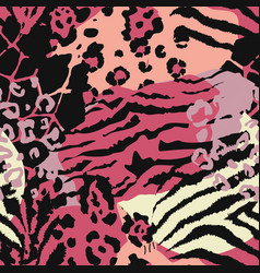 abstract seamless pattern with animal skin vector image