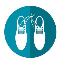 april fool shoelaces tied image shadow vector image