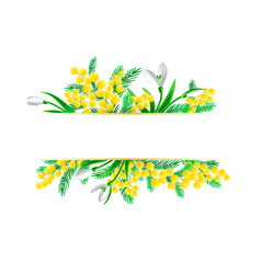 art spring floral horizontal design vector image