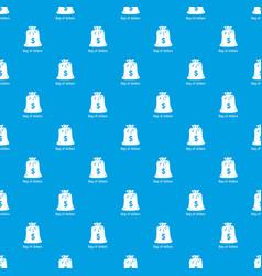bag dollar pattern seamless blue vector image