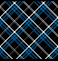 Black check seamless diagonal fabric texture vector