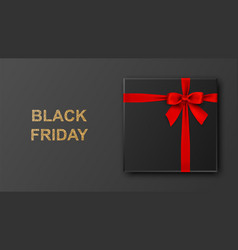 black friday sale banner poster gold glitter vector image
