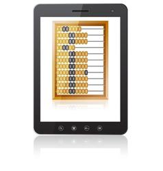 Black tablet PC computer vector image