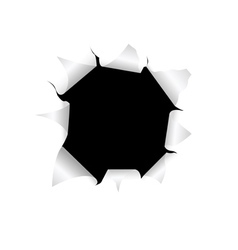 Black torn hole vector