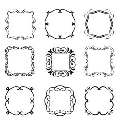 calligraphic frames set vector image