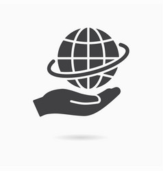 care planet icon save earth logo template vector image