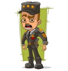 Cartoon army general in uniform vector