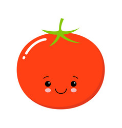 cartoon cute tomato with eyes and smiling vector image