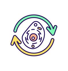 Cellular regeneration rgb color icon vector