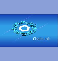 chainlink link isometric token symbol defi vector image