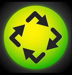 Circular arrows icon rotating arrows clockwise vector