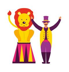 circus fun fair vector image