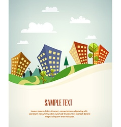 city stylized vector image