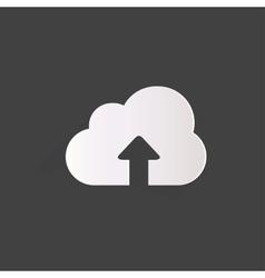 Cloud upload application web icon vector