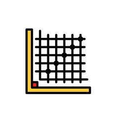Color correction edit form grid flat color icon vector