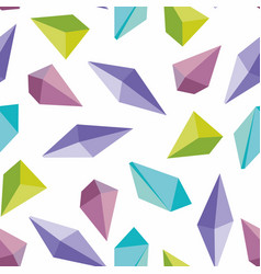 Colorful crystals seamless background vector