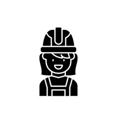 construction master black icon sign on vector image