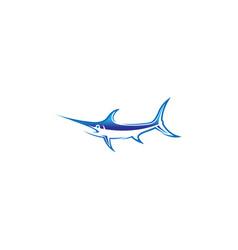 creative abstract marlin fish logo vector image