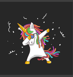 cute unicorn dance party vector image