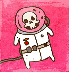 Dead Astronaut Cartoon vector image