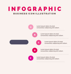 Delete less minus remove solid icon infographics vector